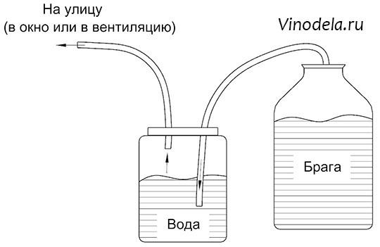 Гидрозатвор для брожения своими руками – 4 лучших конструкции