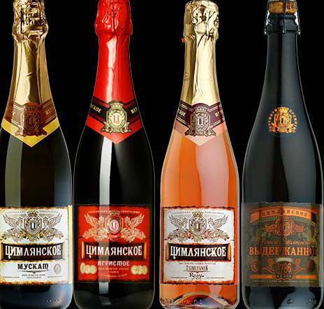 Шампанское Цимлянское: описание, история и виды марки