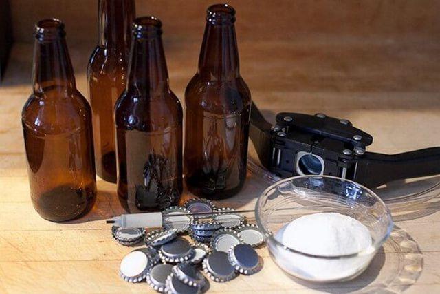 Карбонизация пива праймером: глюкозой (сахаром) и суслом