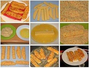 Соленые и сырные палочки к пиву по проверенным рецептам
