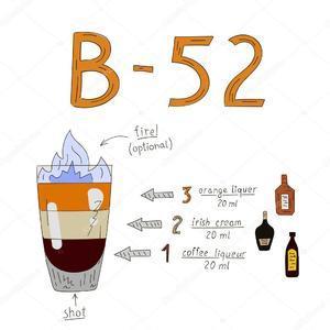 Коктейль Б-52 – состав, рецепт, пропорции и правила распития