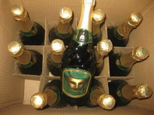 Сколько шампанского в бутылке и в одном ящике