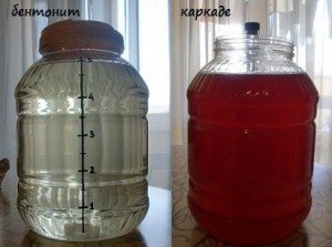 Осветление браги бентонитом, чаем каркаде и желатином